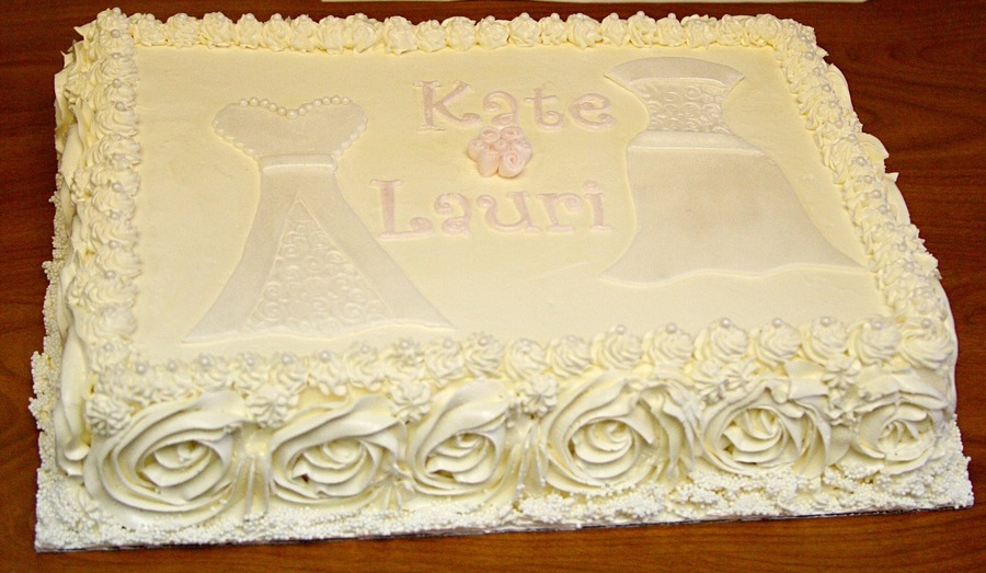 Double Bridal Shower Cake  on Cake Central