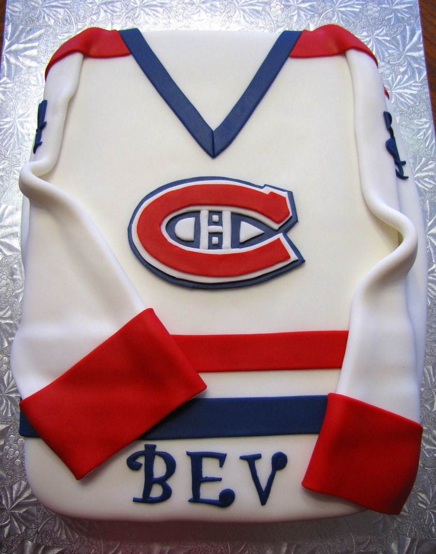 Cake Decorating Store Nj : Montreal Canadiens Jersey - CakeCentral.com