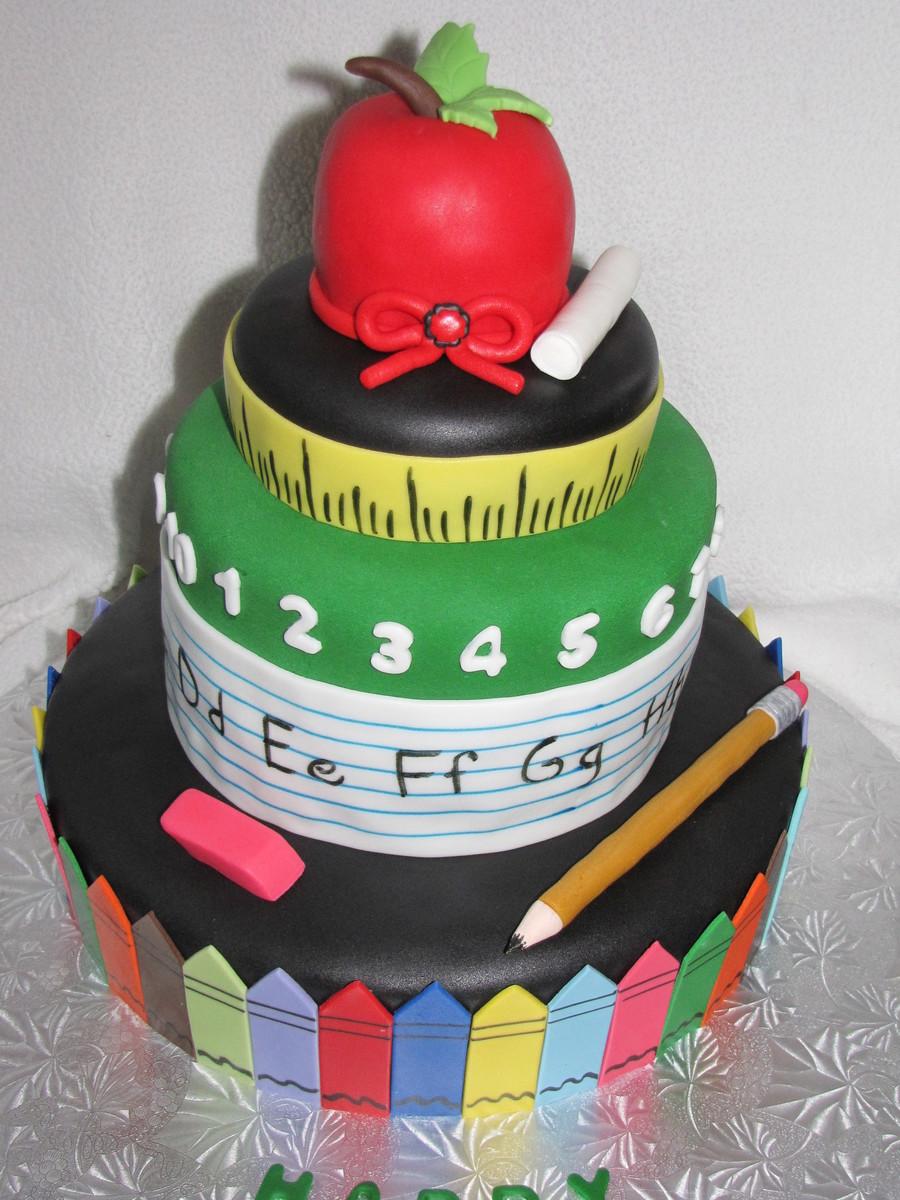 Teacher's Retirement Cake - CakeCentral.com