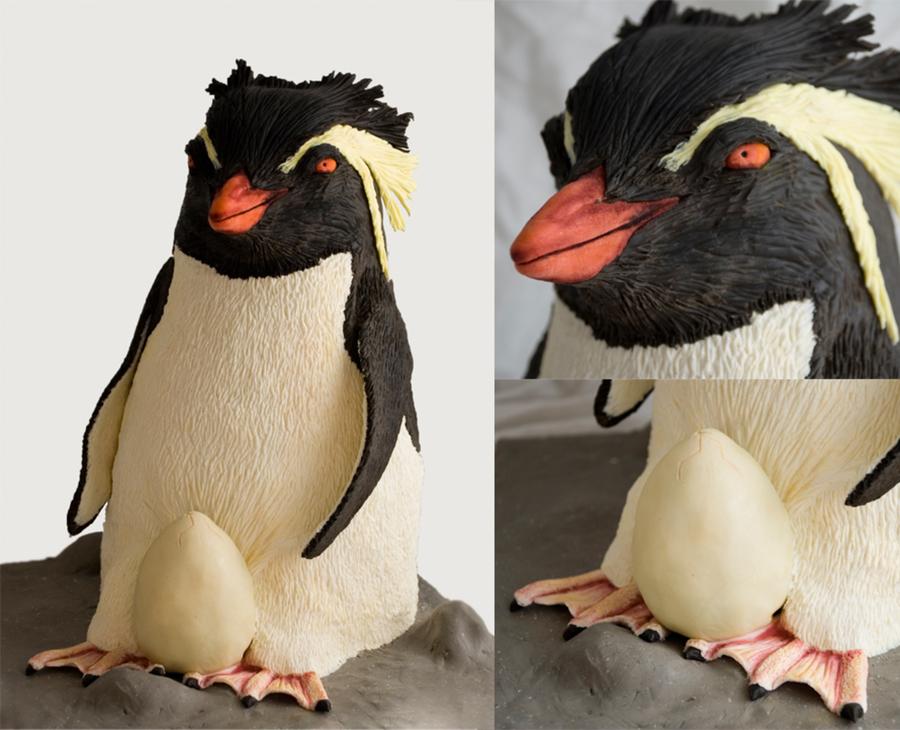 Rockhopper Penguin Baby Shower Cake. - CakeCentral.com