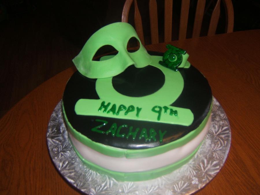 Amazing Green Lantern B Day Cake Cakecentral Com Funny Birthday Cards Online Amentibdeldamsfinfo