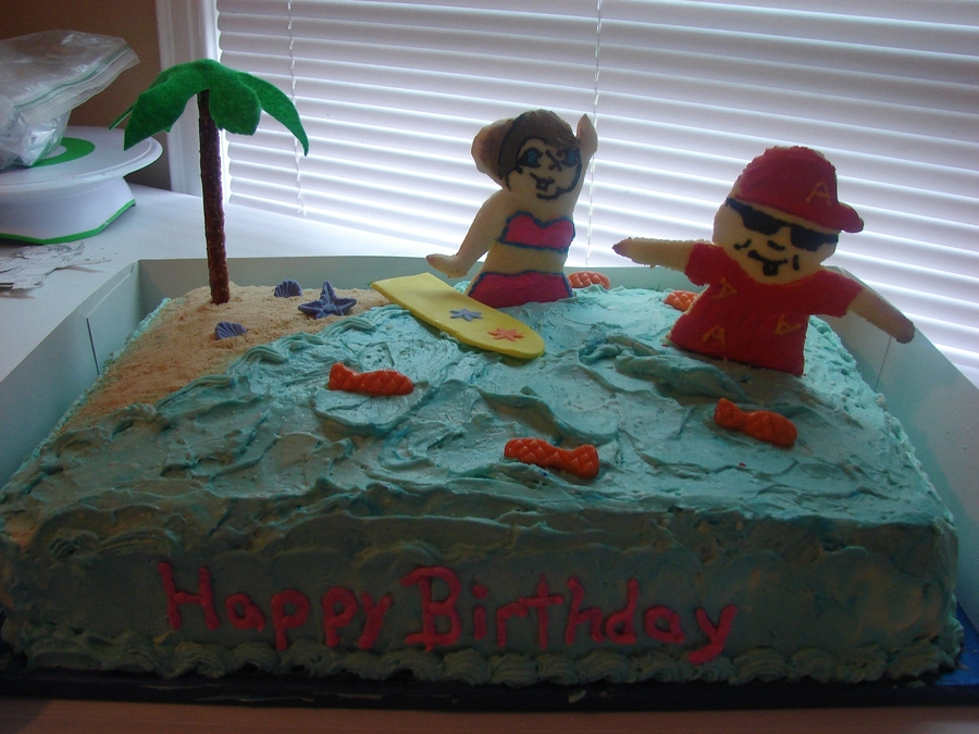 Miraculous Alvin And The Chipmunks Birthday Cake Cakecentral Com Funny Birthday Cards Online Sheoxdamsfinfo