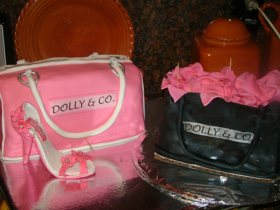 Purse, Shoe, And Gift Bag on Cake Central