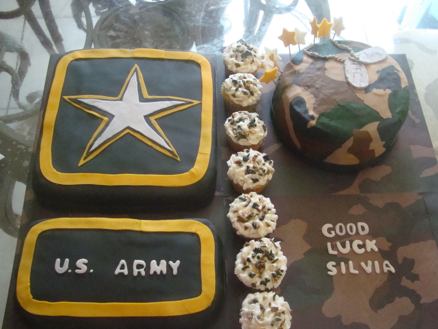 For A Young Lady Leaving For The Army on Cake Central
