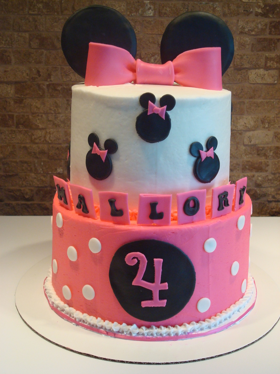 Minnie Mouse Two-Tier on Cake Central