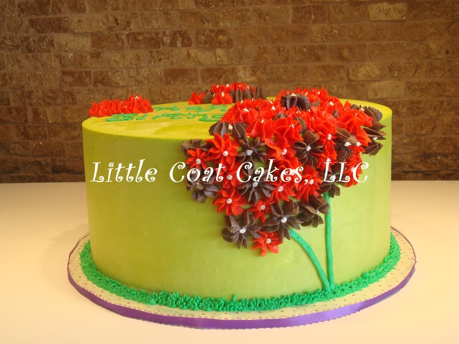 Simple Hydrangea Cake on Cake Central