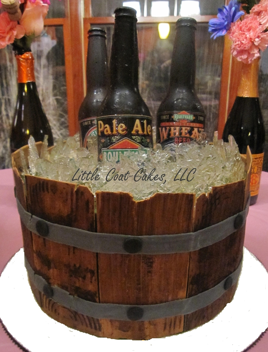 Yet Another Beer Barrel Cake on Cake Central