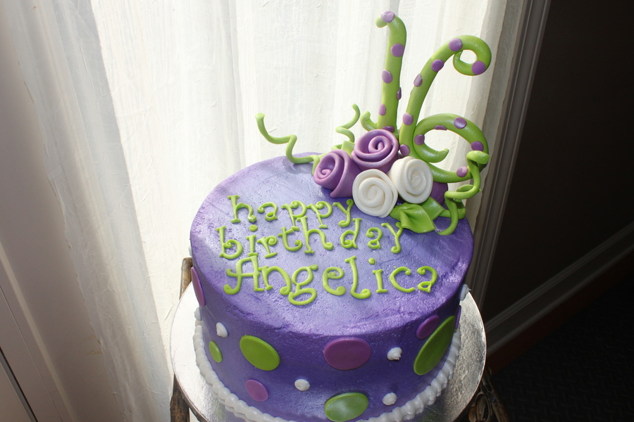 Simple Sweet 16 CakeCentralcom