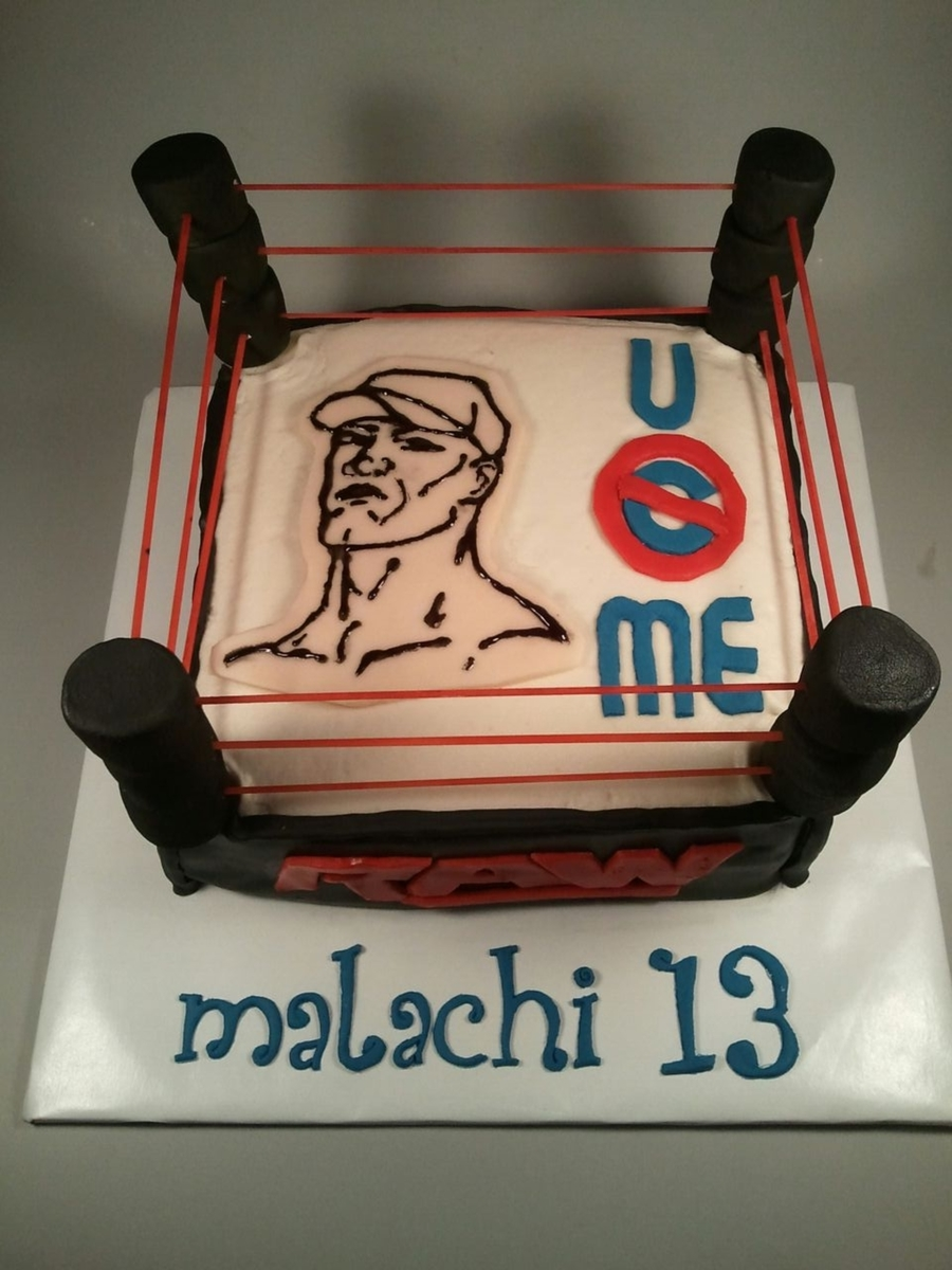 Wrestling Cake Cakecentral Com