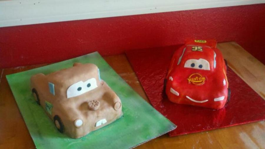 Lighning Mcqueen And Towmater on Cake Central
