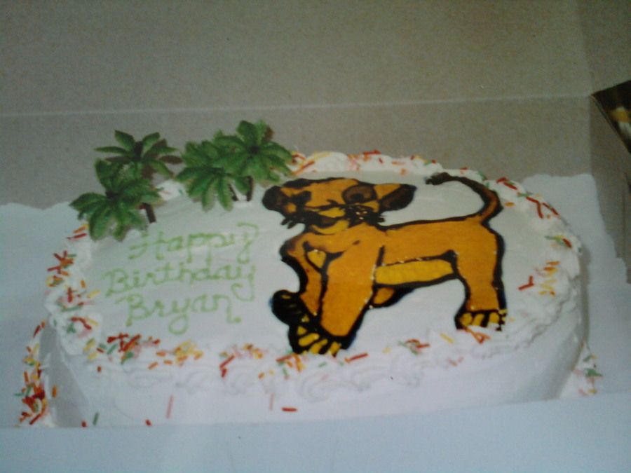 Lion King Cake on Cake Central