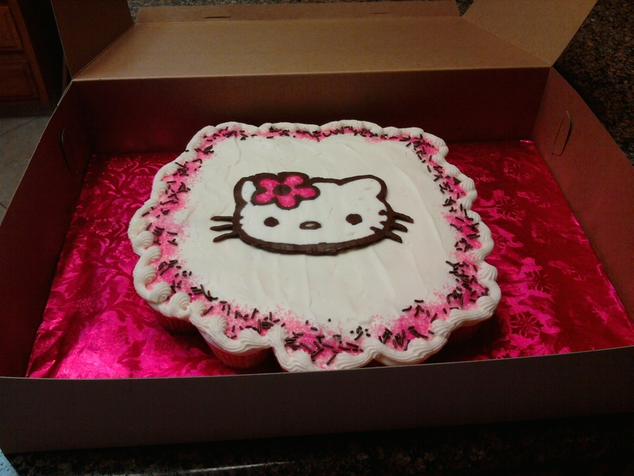 Hello Kitty Cupcake Cake on Cake Central