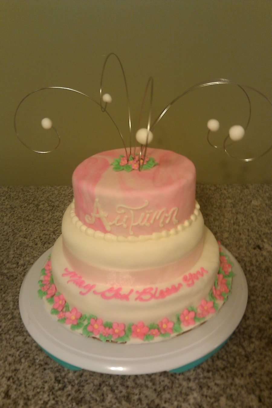 Pink And White Fondant on Cake Central