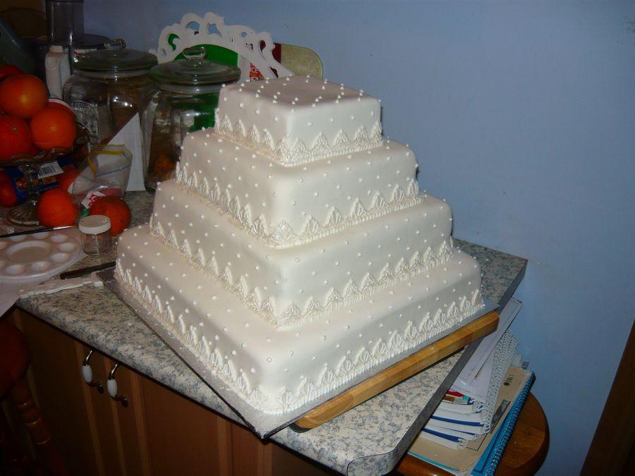 Art Deco Square Cake : Multi Tiered Square Wedding Cake Art Deco Style ...