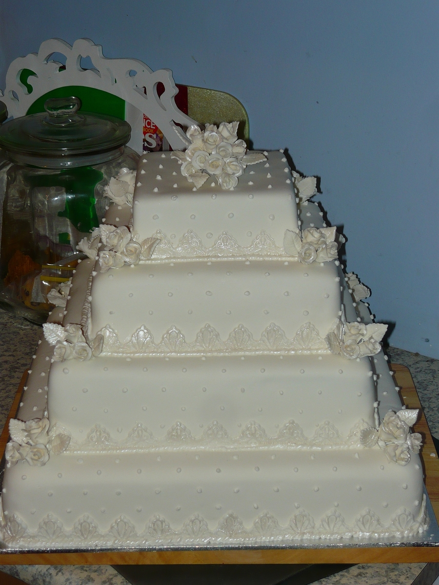 multi tier wedding cakes multi tiered square wedding cake deco style 17662