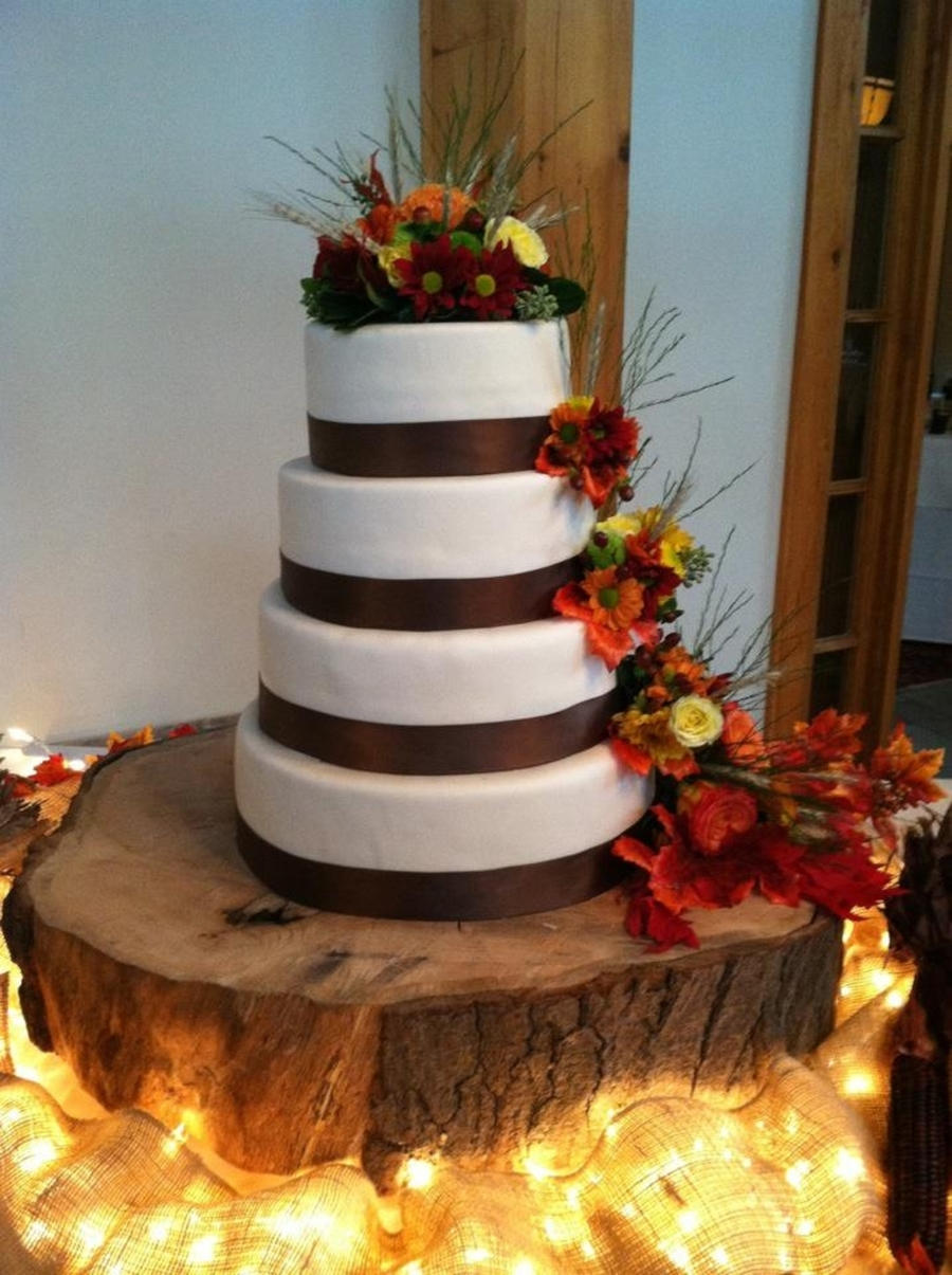 Rachael's Fall Wedding Cake on Cake Central