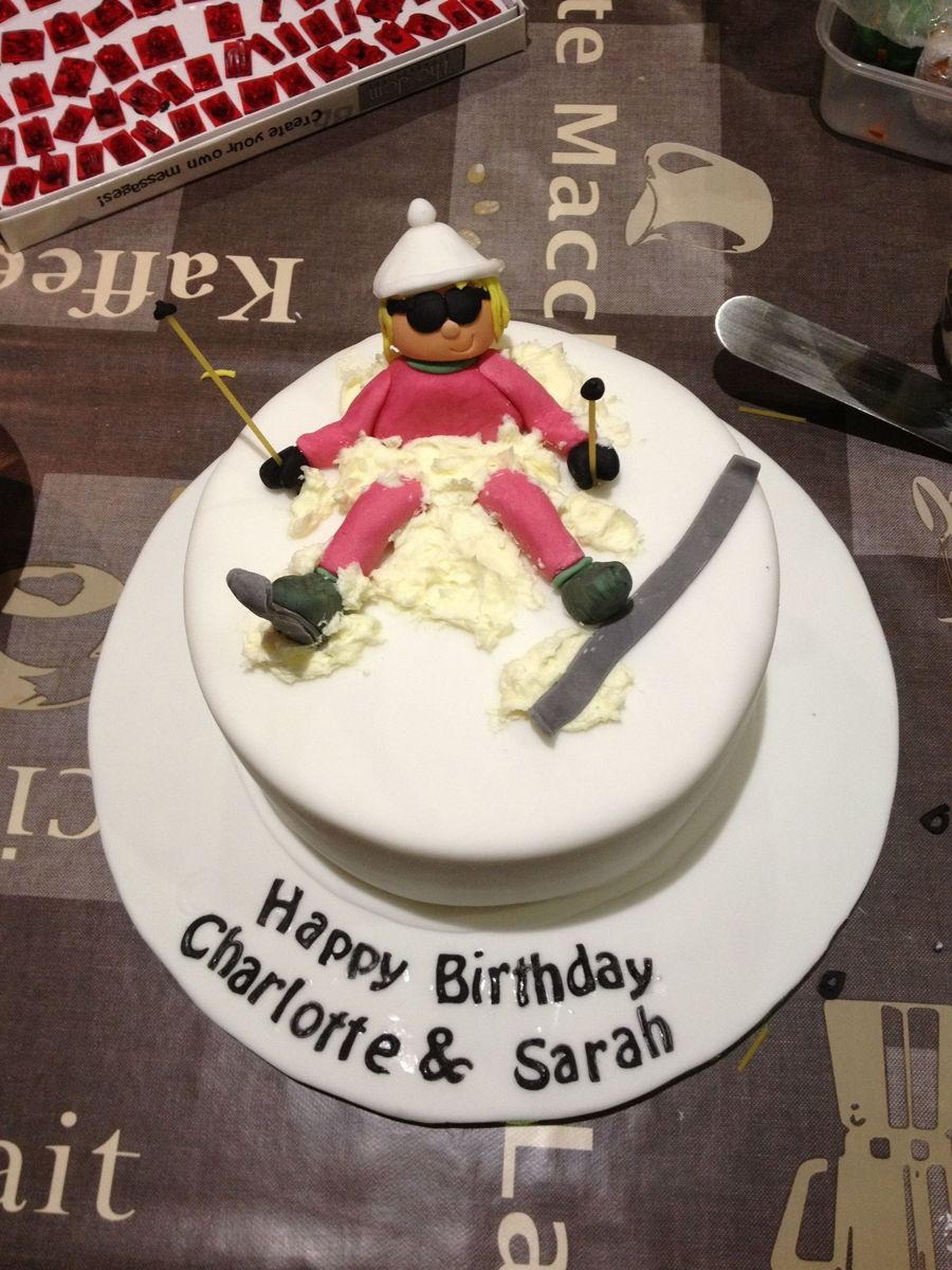 Ski Cake Decorations