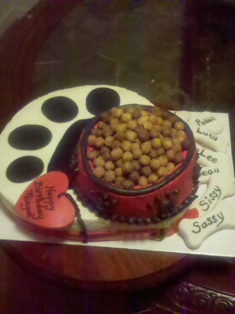 Puppy Chow Birthday Cake  on Cake Central