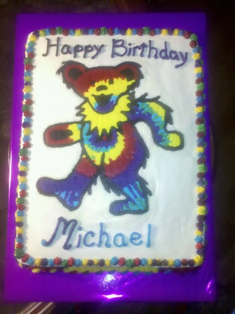 Tye-Dye Teddy  on Cake Central