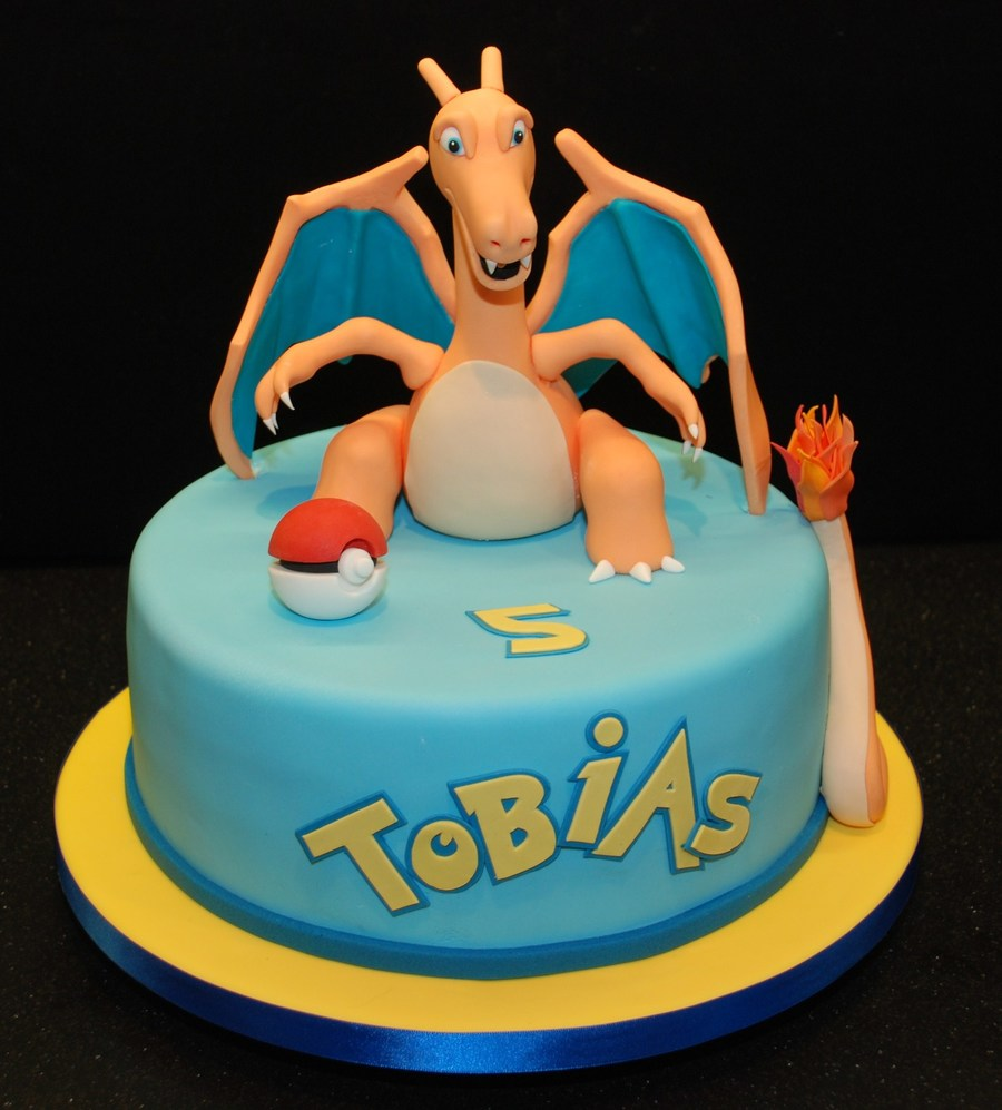 Pokemon Birthday Cake Featuring Charizard Cakecentral