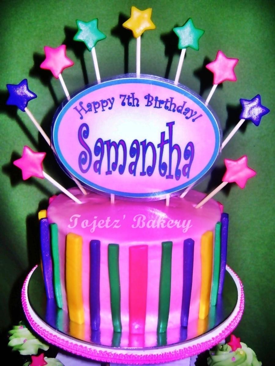 happy birthday samantha cake on birthday cakes with rainbow