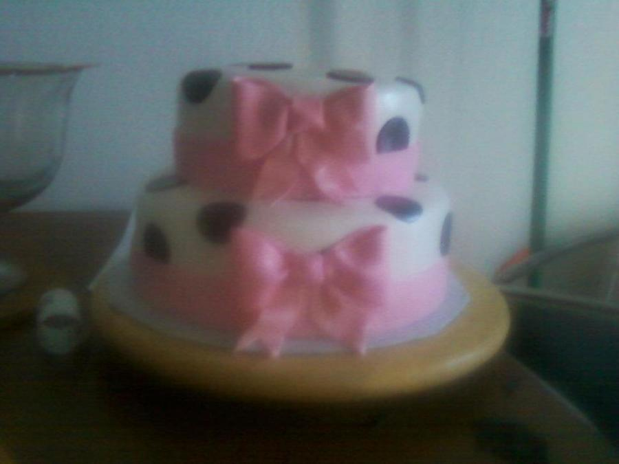 Polka Dot And Bows on Cake Central