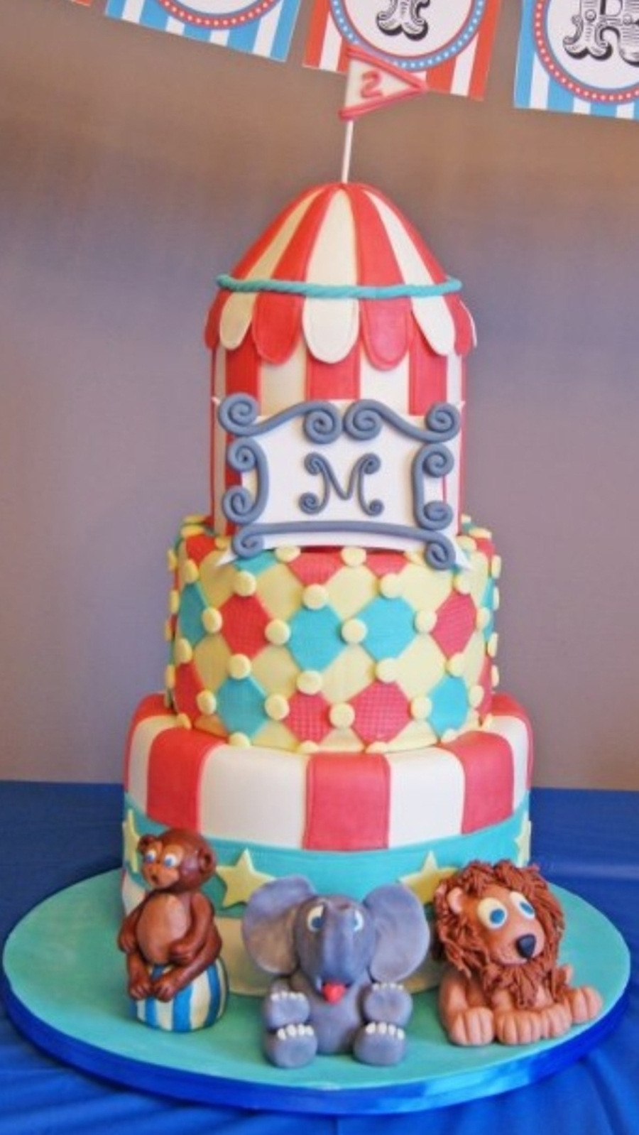 2Nd Birthday Circus Themed Cake on Cake Central
