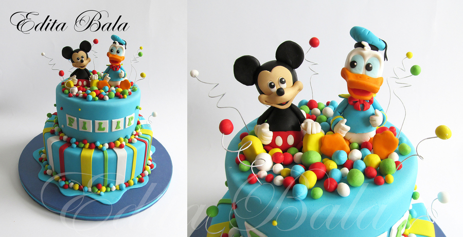 Brilliant Mickey Mouse Donald Duck Cake Cakecentral Com Funny Birthday Cards Online Elaedamsfinfo