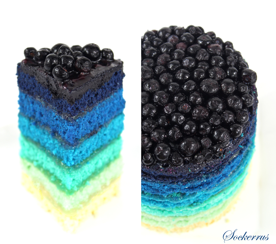 Blue Rainbow Cake Cakecentral Com