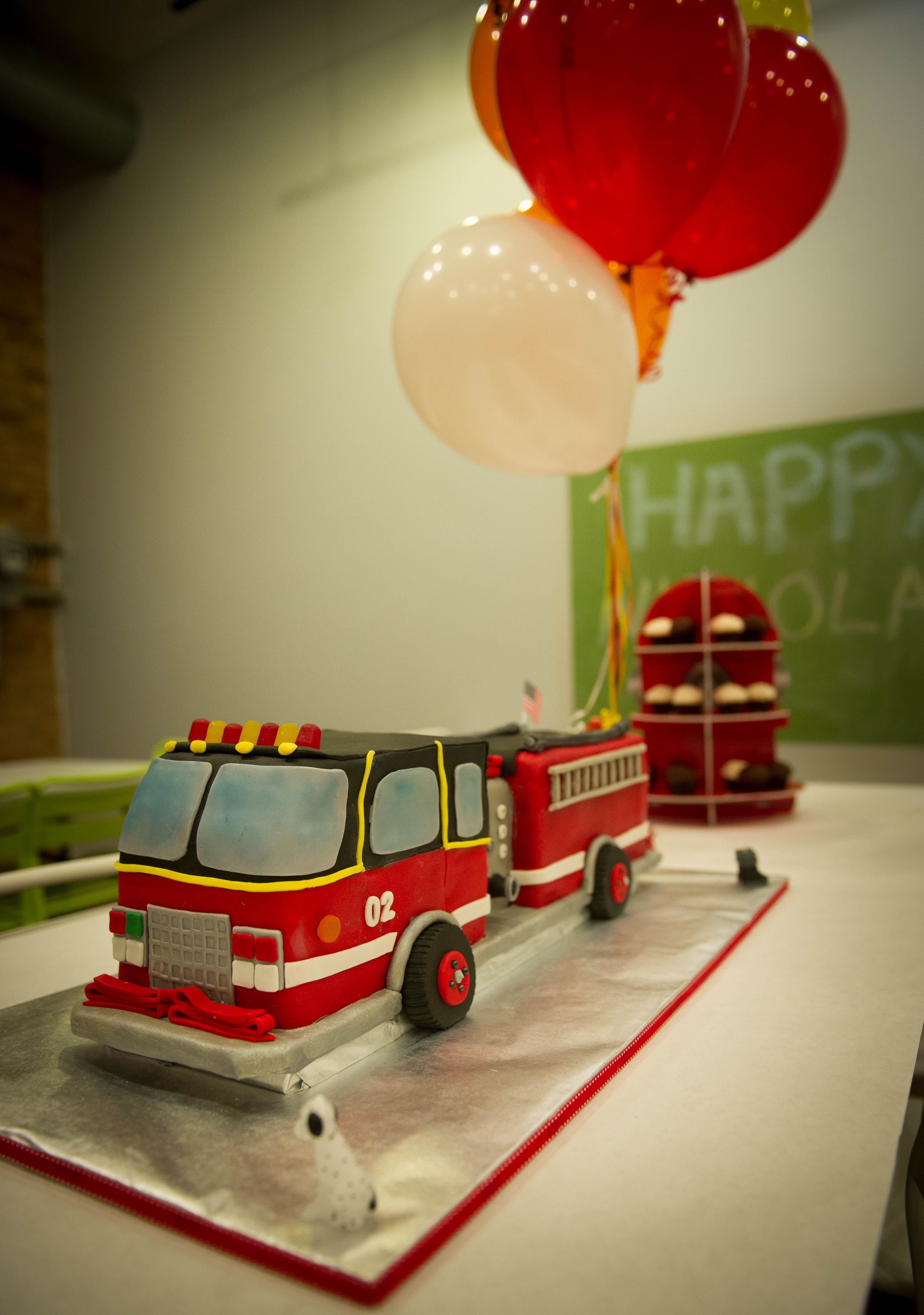 This is the fire truck cake that i made for my sons 2nd for 2nd birthday decoration
