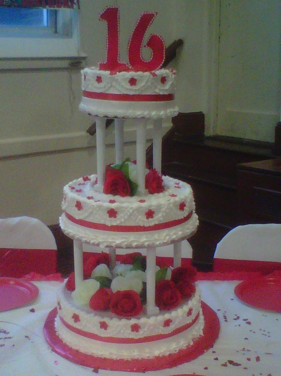 Sweet 16 Cake on Cake Central