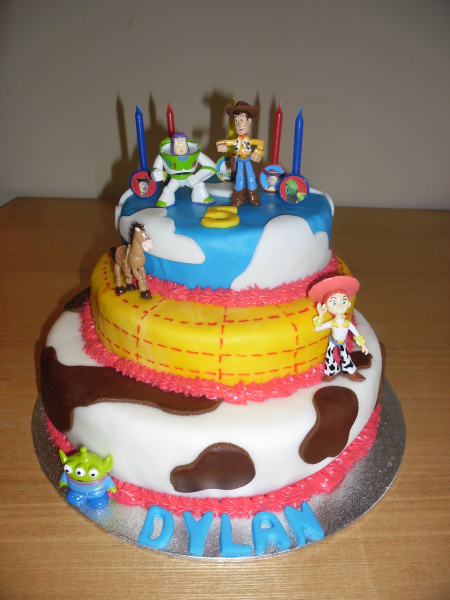 Toy Story 3 Tier Birthday Cake Cakecentral