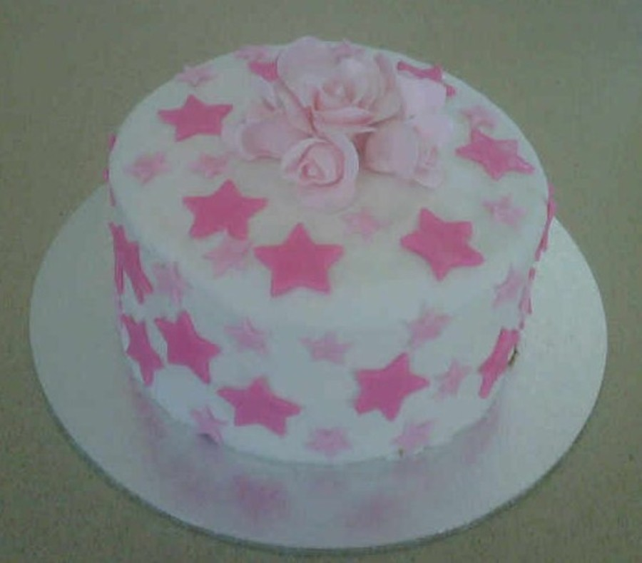 Pink Star Cake on Cake Central