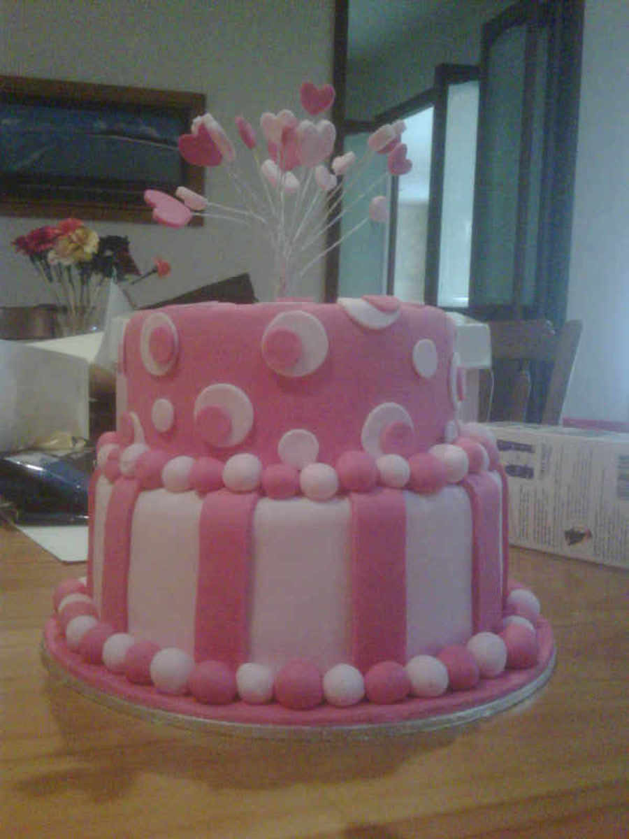 2 Layer Pink On Pink Cake on Cake Central