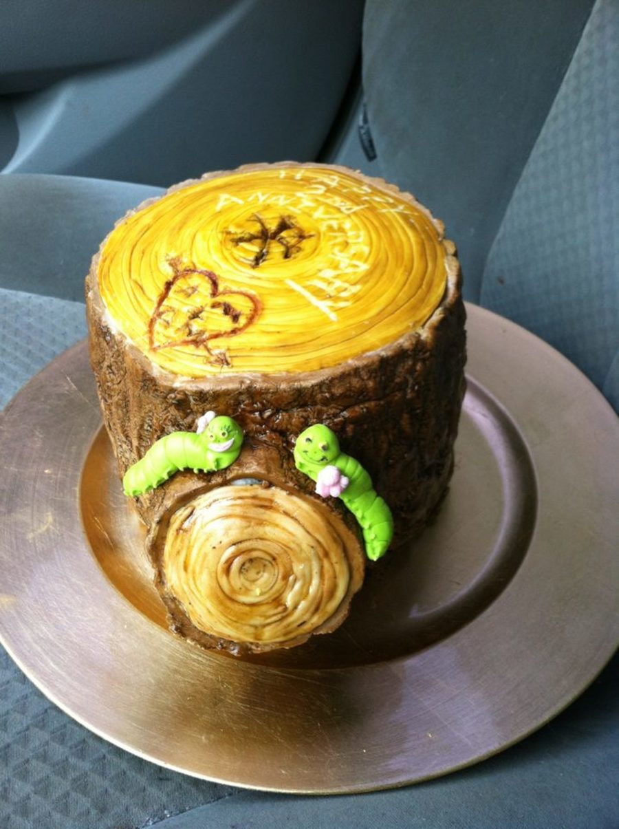 Tree Stump Anniversary Cake on Cake Central