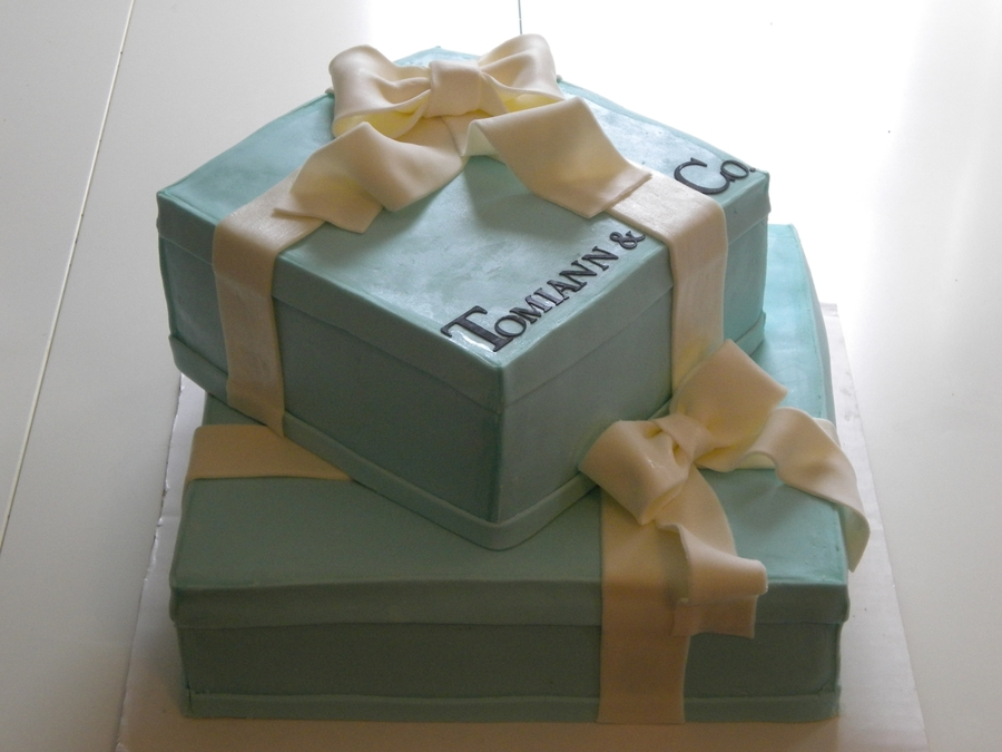 Tiffany's Box Cake on Cake Central