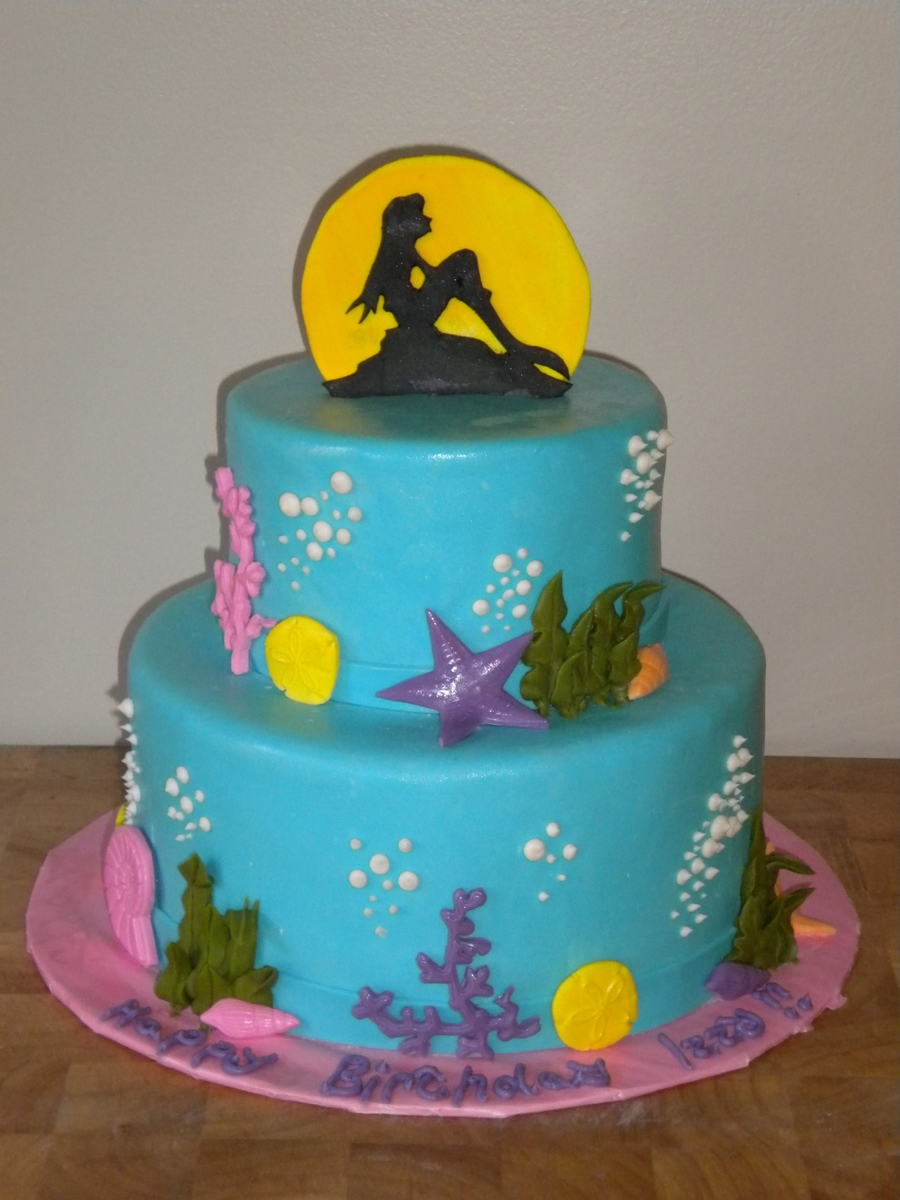 Little Mermaid Under The Sea Cake on Cake Central