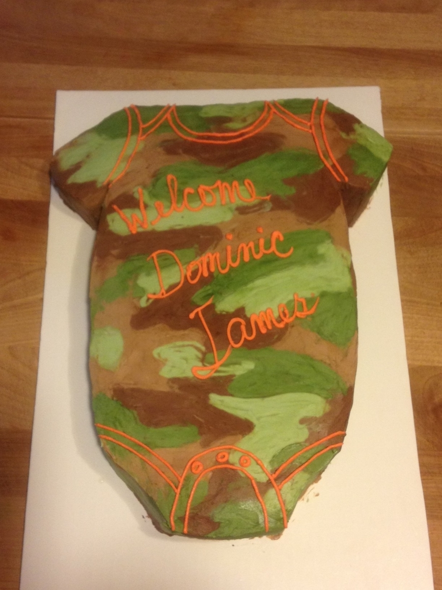 Camo Onesie Cake on Cake Central