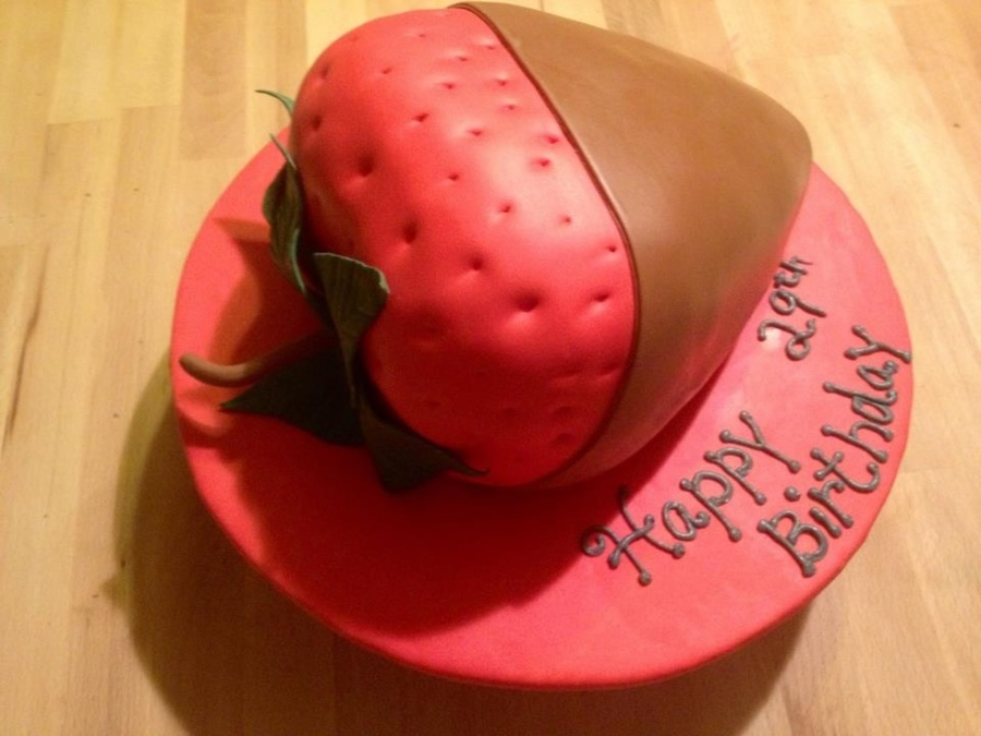 Chocolate Covered Strawberry Cake on Cake Central