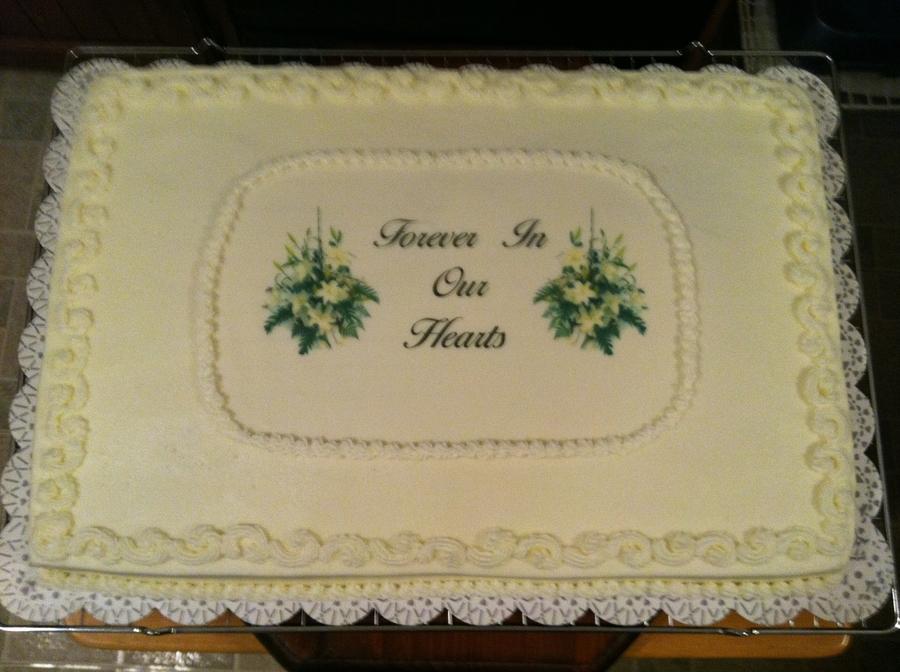 Sympathy Cake CakeCentralcom