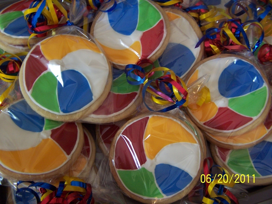 Beachball Cookies on Cake Central