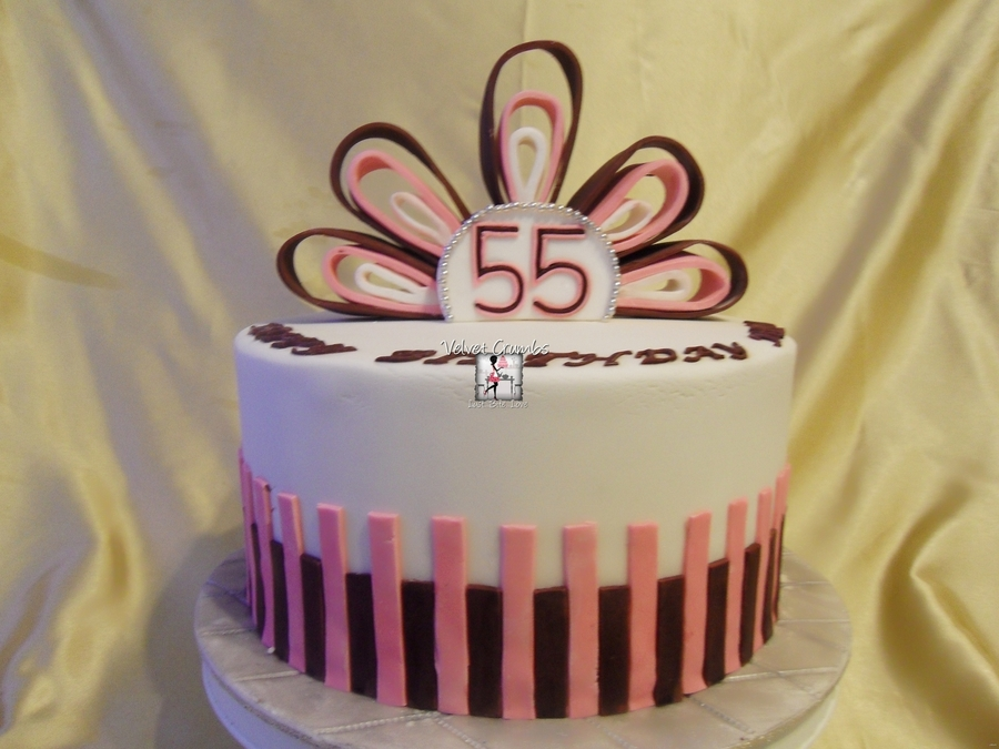 Outstanding 55Th Birthday Cake Cakecentral Com Funny Birthday Cards Online Inifofree Goldxyz