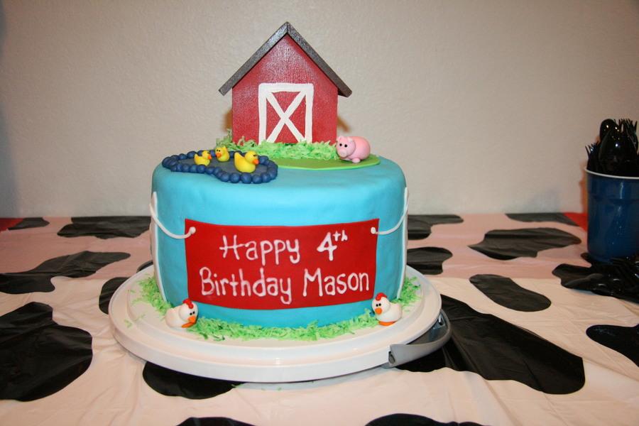 Tremendous Farm Animal Birthday Cake Cakecentral Com Funny Birthday Cards Online Alyptdamsfinfo