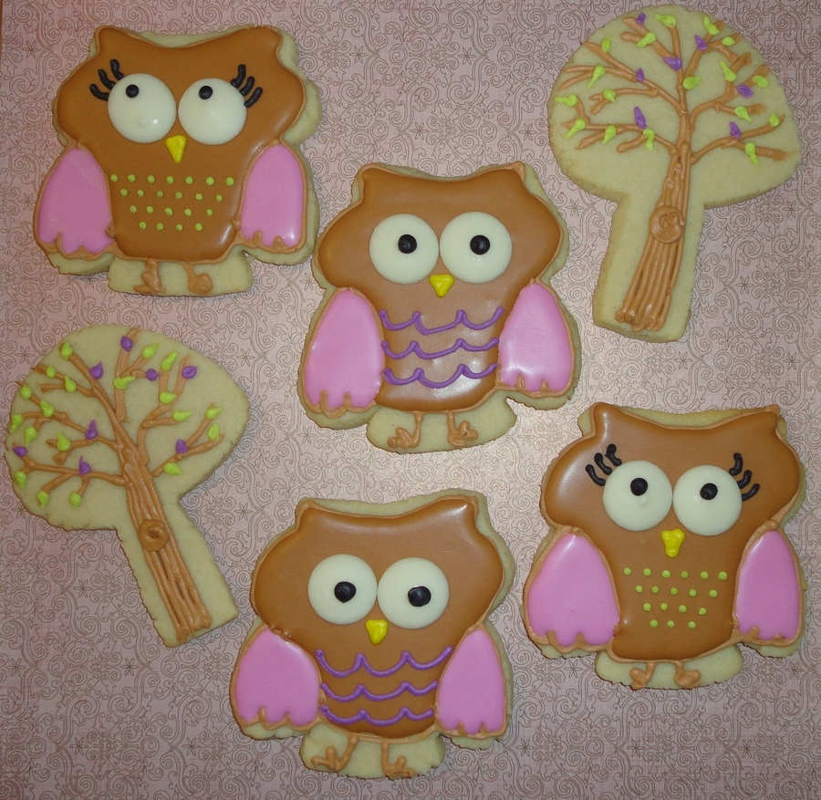 Cute Hoot Cookies on Cake Central