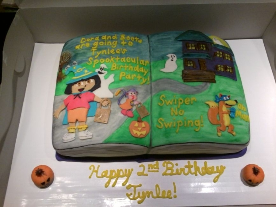 Dora And Boots Spooktacular Halloween on Cake Central