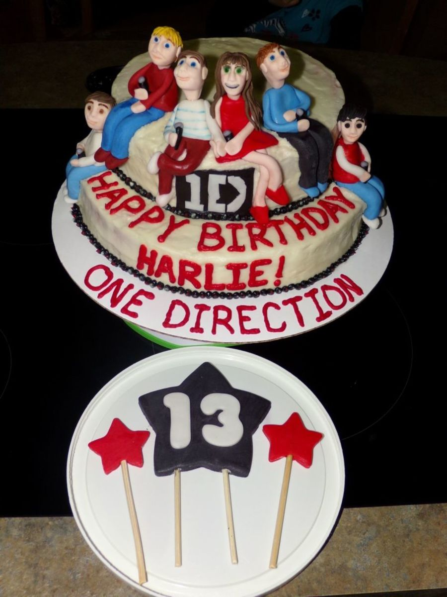 One Direction Birthday Cake CakeCentralcom