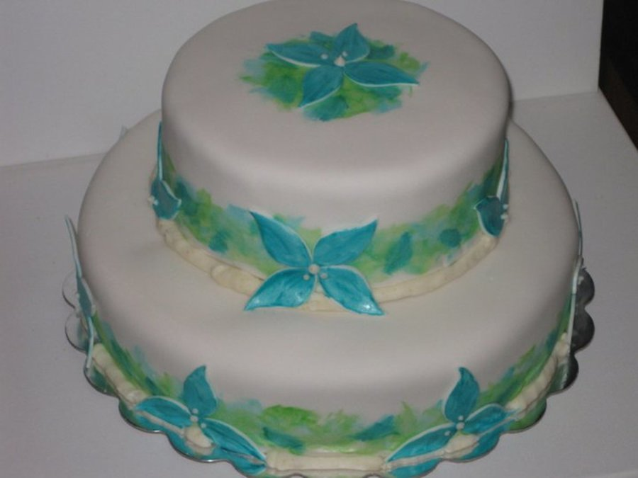 """watercolor"" Cake on Cake Central"