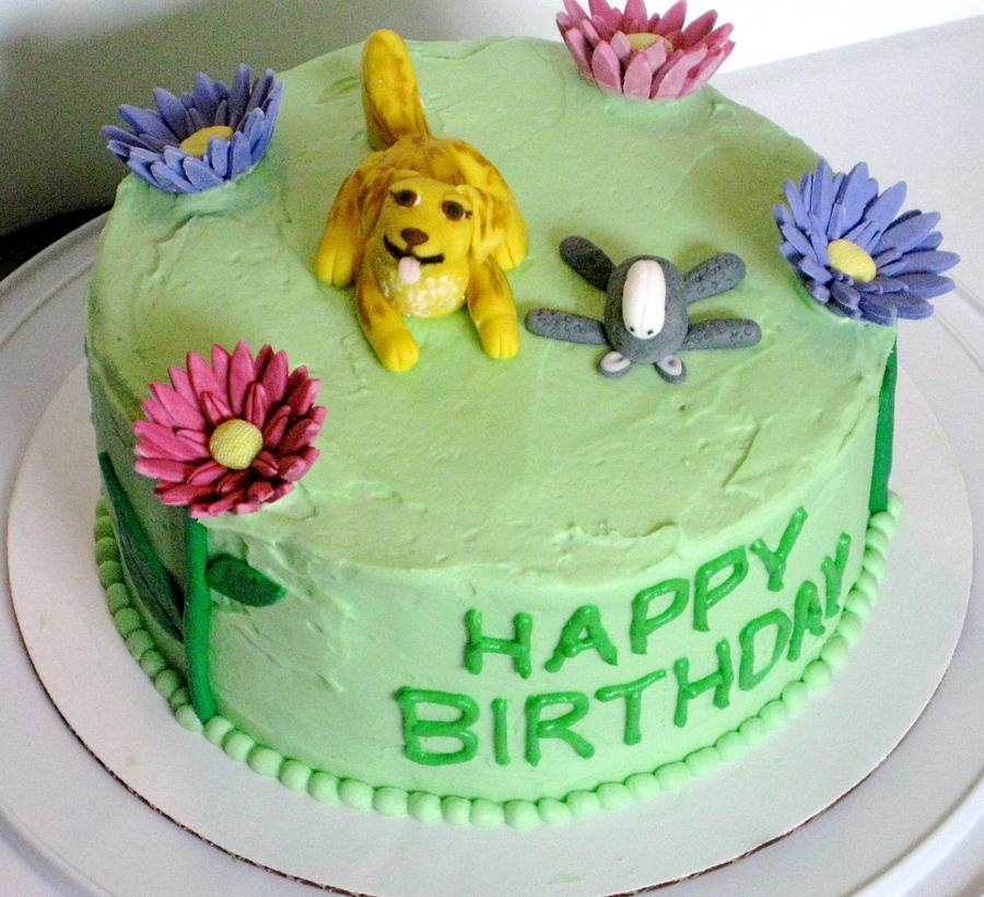 Marvelous Dog Daisy Cake Cakecentral Com Funny Birthday Cards Online Alyptdamsfinfo