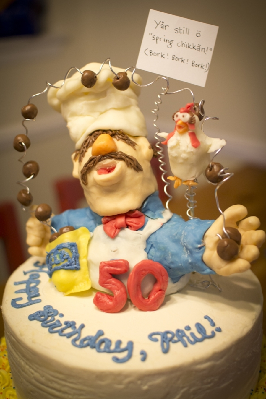 Cake Decorating Chefs : Swedish Chef Birthday Cake - CakeCentral.com