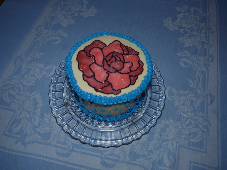 Stained Glass Rose on Cake Central